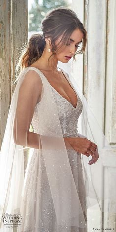 anna campbell 2020 bridal illusion flare sleeves thick straps fully embellished ball gown a line wedding dress romantic glitzy blush color chapel train zsv -- Anna Campbell 2020 Wedding Dresses Princess Wedding Dresses, Designer Wedding Dresses, Bridal Dresses, Wedding Gowns, Wedding Ceremony, Anna Campbell, Backless Wedding, Lace Weddings, Bridal Collection