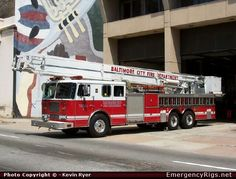 Baltimore City Fire Department | Seagrave Baltimore City Fire Department Emergency Apparatus Fire Truck ...