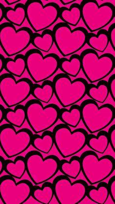 Floral Wallpaper Iphone, Pretty Phone Wallpaper, Heart Wallpaper, Love Wallpaper, Cellphone Wallpaper, Cool Backgrounds Wallpapers, Phone Backgrounds, Pink Love, Hot Pink
