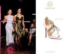 Nina Dobrev wearing the Soebedar light purple suede and gold leather 'Foglia' Sandal to the 2016 MTV Europe Music Awards in Rotterdam, Netherlands