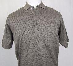 Ermenegildo Zegna Shirt Medium 50 Golf Polo 100% Cotton Diamond Short Sleeves #ErmenegildoZegna #PoloRugby