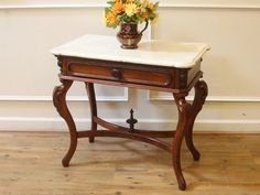 Antiques 100% Quality Solid Mahogany French Chateau Style Antique White Carved Console Hall Table Furniture