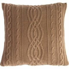Arran Cushion Mocha 45 x 45cm from Homebase.co.uk