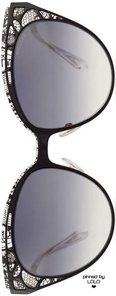 Jimmy Choo Estelle Lace-Pattern Cat-Eye Sunglasses | LOLO❤︎