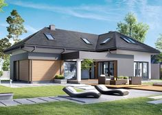 Find home projects from professionals for ideas & inspiration. Projekt domu HomeKONCEPT 15 by HomeKONCEPT Solar, Home Projects, Facade, House Plans, Home And Family, Floor Plans, Patio, Flooring, How To Plan