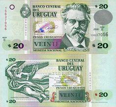 URUGUAY 20 URUGUAYOS 2008