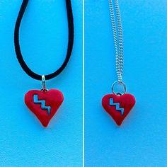 Harry Potter inspired lightening flash necklace by PetalcraftArt