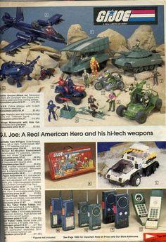 Classic GI Joe (@ClassicGIJoe) | Twitter 80 Toys, Gi Joe Vehicles, Toys In The Attic, Toy Catalogs, 80s Theme, Cartoon Toys, Fisher Price Toys, Hulk Smash, 80s Kids
