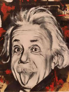 What time is it ? Oil on canvas 40x40cm | Ponzellini Devis What Time Is, Albert Einstein, Famous People, Oil On Canvas, Icons, Portrait, Headshot Photography, Symbols, Portrait Paintings