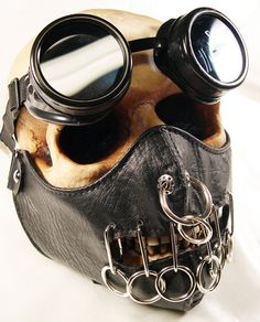 Excellent gift for that special someone with eclectic, unique, and maybe even somewhat eccentric tastes. This listing is for a 2 piece black Hannibal Lector set mask/scarf with O-rings and matching goggles. The goggles have 2 50MM lenses that are interchangeable.. Other lenses may also