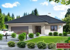 Simple Bungalow House Designs, Modern Bungalow House, Modern House Design, My House Plans, Modern House Plans, Family House Plans, Outside House Paint, Front House Landscaping, Beautiful House Plans