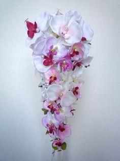 bouquet de mariée cascade l'orchidée romantique♡