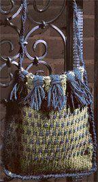 Ravelry: Funky Fringe Bag pattern by Marilyn Murphy Knitting Daily, Knitting Yarn, Hand Knitting, Knitting Patterns Free, Crocheting Patterns, Free Pattern, Knitted Bags, Knit Bag, Creative Knitting