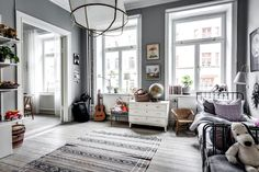 Scandinavian Style in this Cosy Gothenburg Apartment– Grøn + White Bright Pillows, Shelter, Kids Corner, Kid Spaces, Scandinavian Style, Apartment Living, Girls Bedroom, Interior Inspiration, Kids Room