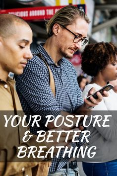 Your posture & better breathing. Your body is designed to move and change positions frequently but poor posture, sedentary work and long-term high volume use of mobile phones is having a knock on effect to many of our body systems and functions. Belly Breathing, Breathing Meditation, Pilates Video, Bad Posture, Breathing Techniques, Muscle Body, Body Systems, Natural Solutions, Fitness Tips