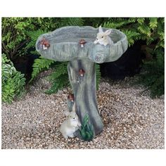 Bunny Bird Bath. Kelkay Bird Baths and Statues are suitable for all garden birds. It's made from durable resin stone and is hand finished to give it an authentic appearance. It would make a lovely gift for a family member or friend. Designed exclusively by Kelkay. #bunny #birdbath