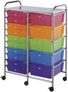 BLUE HILLS STUDIO-Storage Cart.  This rolling cart is ideal for scrapbookers; card makers; quilters; sewers; knitters and croche... (see details) $169.00