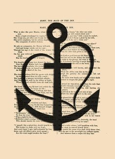 Faith Hope Love art print Anchor poster by eebookprints on Etsy