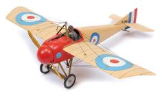 Unconfirmed Maker - 1/32nd Scale WW1 Aircraft: Morane Saulnier N Fighter [24cm Wingspan] Depicted in the Colours and Markings of the RFC, France 1915. Wood & Resin Construction.