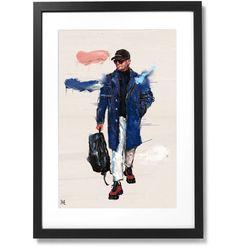 Framed Sartorial Painting Antonio Metodo Print, X The Republic, Black Wood, Solid Black, Outline, Museum, Frame, Prints, Artist, Painting