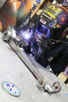 Slingshot dragster metal art cold hard art welding