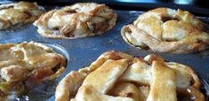 Mini Apple Pies in Muffin Tins. Just in time for Thanksgiving!!!!