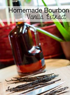 One of the best and most simple things I've ever done is make my own DIY vanilla extract. And bourbon vanilla, at that. Our homemade vanilla ice cream on top of our favorite deserts is 500 times better for it, plus Vanilla Extract Recipe, Vanilla Flavoring, Bourbon, Do It Yourself Food, Fresh Cream, Canning Recipes, Alcohol Recipes, Cooking School, Homemade Ice Cream