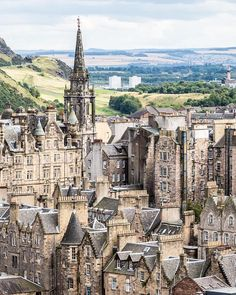 View of Edinburgh, Scotland from the Scott Monument