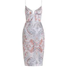 Zimmermann Arcadia Paisley Wire Dress ($630) ❤ liked on Polyvore featuring dresses, zimmermann, zimmermann dress, strap dress, strappy dress and paisley day dress