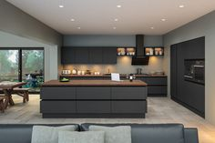 Zurfiz by BA Components. Contemporary Supermatt Graphite Zurfiz Kitchen by BA. Find your local BA Components retailer today. The post Zurfiz by BA Components. Contemporary Supermatt Gr… appeared first on Best Pins for Yours. Modern Grey Kitchen, Grey Kitchen Designs, Contemporary Kitchen Design, Grey Kitchens, Interior Design Kitchen, Fitted Kitchens, Modern Kitchens, Bespoke Kitchens, Minimalist Kitchen