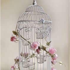 2ft tall shabby chic bird cages for hire in Herts & Essex