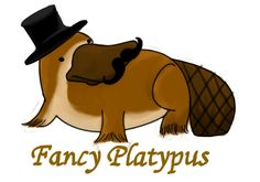 Fancy Platypus is Fancy Animal Drawings, Cute Drawings, Duck Billed Platypus, Echidna, Preschool Crafts, Drawing Reference, Mammals, Cute Animals, Abandoned Asylums
