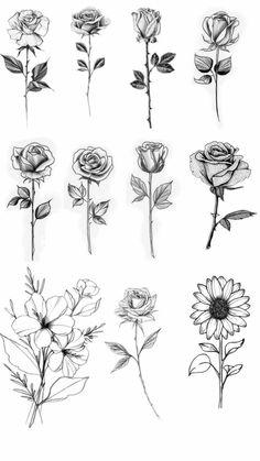 Single Rose Tattoos, Rose Tattoos For Women, Tiny Tattoos For Girls, Cute Tiny Tattoos, Dainty Tattoos, Pretty Tattoos, Mini Tattoos, Small Tattoos, Tattoos For Guys