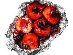 Grilled Hot Plums and Berries