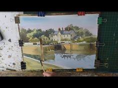 How to paint buildings and trees in watercolour easy watercolour - YouTube