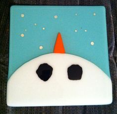Snowman plate for Mom for Christmas.