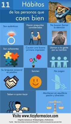 Hola: Una infografía con 11 hábitos de las personas que caen bien. Un saludo