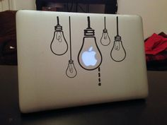 Mac decal-Bright lights , Macbook Decal, Macbook Air Stickers, iPad Sticker for your Macbook and iPad