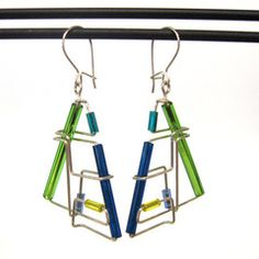 Barbed Wire Earrings - SOLD