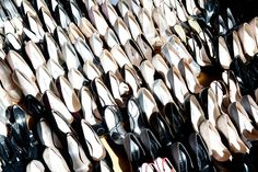 via The Coveteur Rachel Zoe shoe styling Rachel Zoe, Things Organized Neatly, The Coveteur, Crazy Shoes, Who What Wear, Shoe Collection, My Style, Heaven, Envy