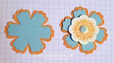 Blossom Punch is layered with 3 Modern Label Punches -- genius! ...this is totally brilliant!