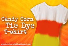 Candy Corn Tie Dye T-shirt DIY