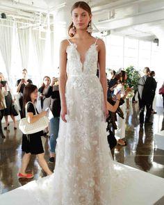 Marchesa Fall 2017 Wedding Dress Collection   Martha Stewart Weddings – V-neck sleeveless dress