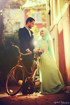 Light green bridal #PerfectMuslimWedding.com