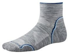 Smartwool PhD Outdoor Ultra Light Mini Sock - Women's Light Gray Medium by SmartWool. $7.96. ThePhD Outdoor Ultra Light Miniis a great choice for any sport such as trail running, hiking or just walking around town. WOW Technology keeps abrasion and shock reduced to a minimum as well as provides high density wool fibers in all the right impact zones. Sock Height: Mini Cushioning: Light Material: 75% Merino Wool, 24% Nylon, 1% Elastic
