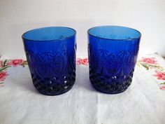 cobalt blue drinking glasses