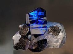 I don't think I've ever seen as rich a blue in a zoisite as this 10 cm specimen on matrix from the Merelani hills of Tanzania  Read more at http://www.geologyin.com/2014/08/merelani-hills-of-tanzania.html#uoz5V9y13WcrsJTU.99