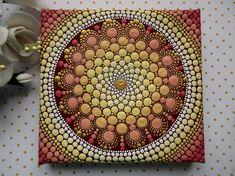 Mandala Stone- Jewel Design (A) Mandala Art, Mandala Canvas, Mandala Painting, Mandala Pattern, Mandala Design, Dot Art Painting, Stone Painting, Painting Frames, Mandala Painted Rocks