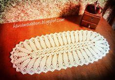 HandmadeBoni: Mały bieżnik - liście. Zrób razem ze mną:-)