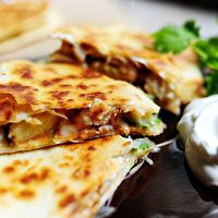 Grilled Chicken & Pineapple Quesadilla by The Pioneer Woman Cooks